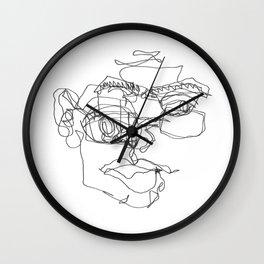 Blind Contour 01 Wall Clock