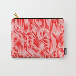 Pastel smudges stains of delicate colors with red. Carry-All Pouch