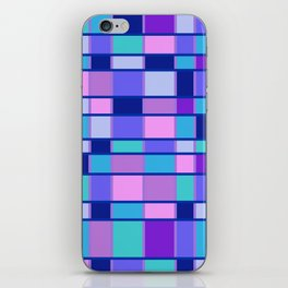 Rectangle Pattern blue violett iPhone Skin