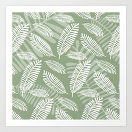 Palm Fronds . Sage Art Print