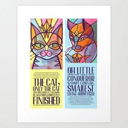 Oda al gato Art Print