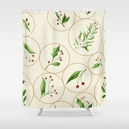 Berries Baubles #society6 #xmas Shower Curtain