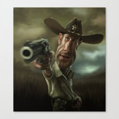 Rick Grimes from 'The Walking Dead'. Canvas Print