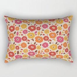 Vintage Colorful Flower Pattern Rectangular Pillow