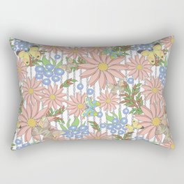 cute floral pattern Rectangular Pillow