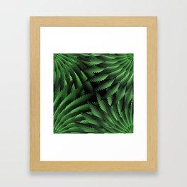Green Fern Jungle Framed Art Print