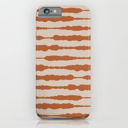 Macrame Stripes in Clay and Putty  iPhone Case