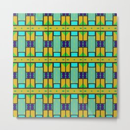 Shapes pattern Metal Print