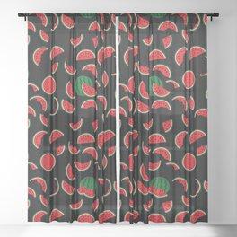 Watermelon Pattern Sheer Curtain