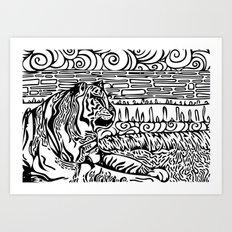 Tiger Dreams Art Print