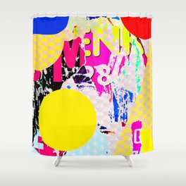 The River Flow - Abstract Pop Art Painting & Comic Shower Curtain
