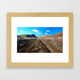 Land of Fire and Ice 4 Framed Art Print
