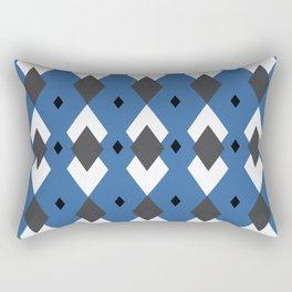 Rhombus Rompus Blue  Rectangular Pillow