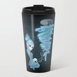 Intercosmic Christmas in Blue Travel Mug