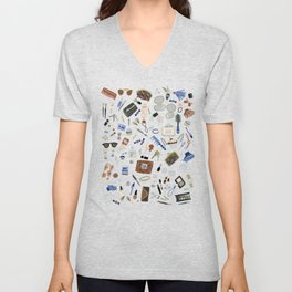 Girly Objects Unisex V-Neck