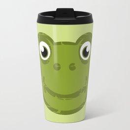 Cute Frog Face Travel Mug