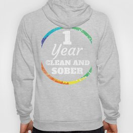 1 Year Clean and Sober Addiction product Hoody