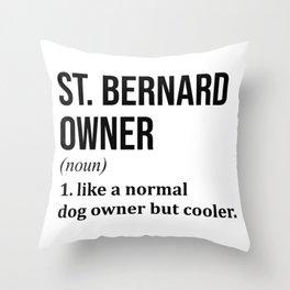 St Bernard Dog Funny Throw Pillow
