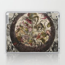 Keller's Harmonia Macrocosmica - Northern Celestial and Terrestrial Hemispheres 1708 Laptop & iPad Skin