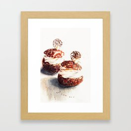 Original watercolor choux  ideas Framed Art Print