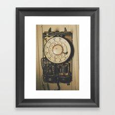 No Dial Tone Framed Art Print
