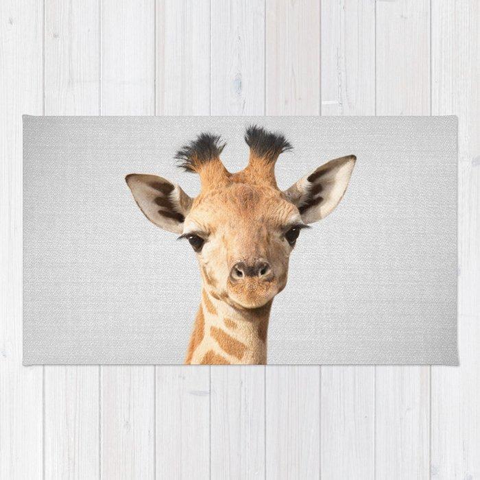 Baby Giraffe - Colorful Rug