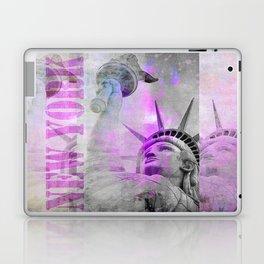 Statue of  Liberty pink mixed media art Laptop & iPad Skin
