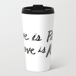 Love is Patient and Kind Metal Travel Mug