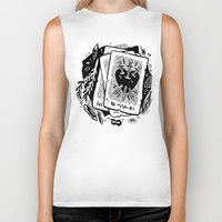 tarot Biker Tanks featuring Tarot talk by pam wishbow