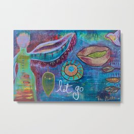 """Let Go"" Original Painting by Toni Becker, Artfully Healing Metal Print"
