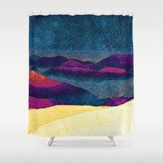 Colorful Mountains Landscape Shower Curtain