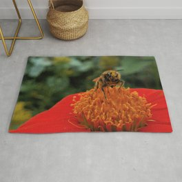 Bee on Mexican Sunflower Rug
