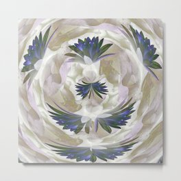 Lilies in the Round Metal Print