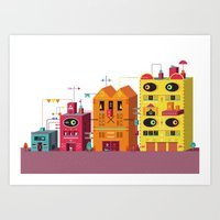 buildings Art Prints featuring Buildings by Luis Pinto