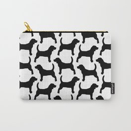 Black Beagle Silhouettes Pattern Carry-All Pouch