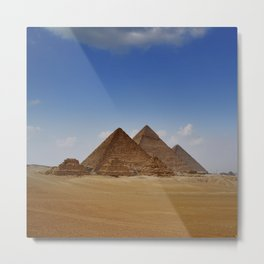 Pyramids of Giza Metal Print