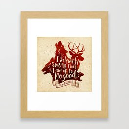 I solemnly swear Framed Art Print