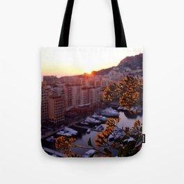 Sunset over Monaco Tote Bag