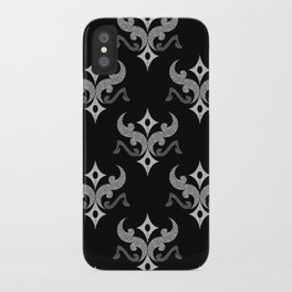 Black and white ethnic pattern iPhone Case