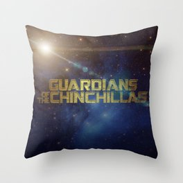 Guardians of the Chinchillas Throw Pillow