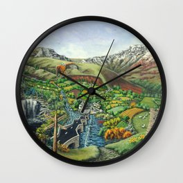 Prelude To Powys Wall Clock