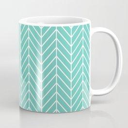 Turquoise Herringbone Pattern Coffee Mug