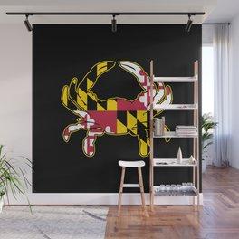 Maryland Flag Crab Wall Mural