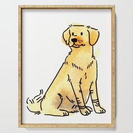 Latte - Dog Watercolour Serving Tray