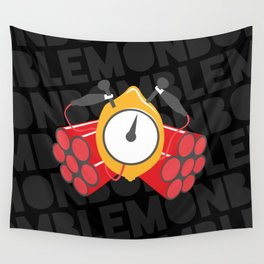 Lemon Bomb Wall Tapestry