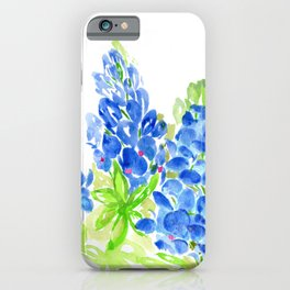 Bluebonnets//Lupines Watercolor iPhone Case