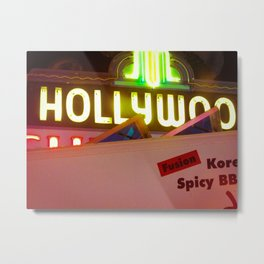 Hollywood Neon Metal Print