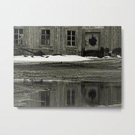 Barn Reflected Metal Print