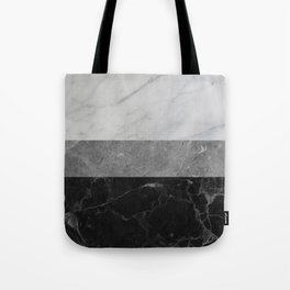 Marble - White, Grey, Black Tote Bag