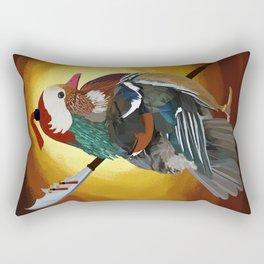 Warrior Duck Rectangular Pillow